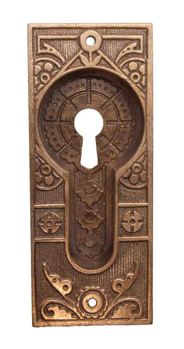 Pocket Door Hardware - Aesthetic Polished Bronze Pocket Door Plate
