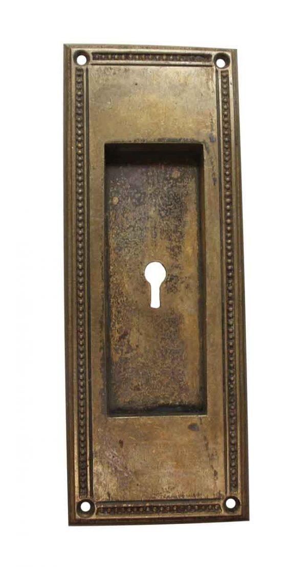 Pocket Door Hardware - Cast Bronze Yale & Towne Pocket Door Plate