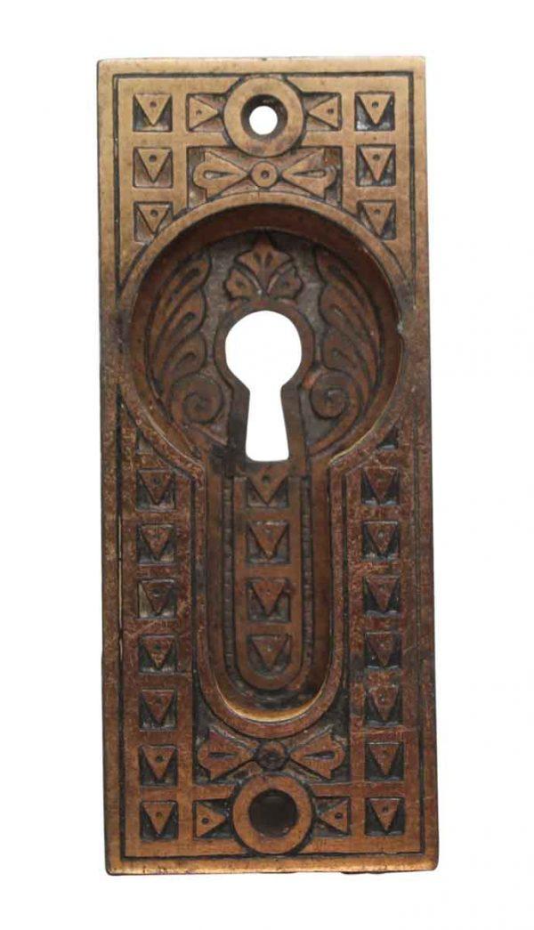Pocket Door Hardware - Cast Iron Aesthetic Recessed Pocket Door Keyhole Plate