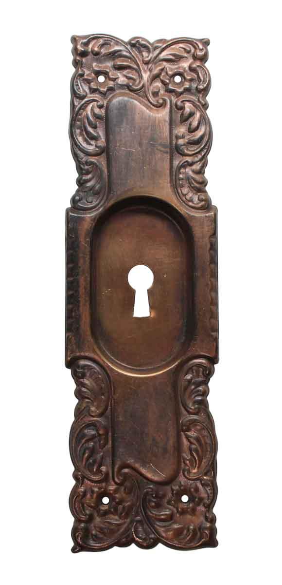 Roanoke Pocket Door Handles Antique Copper /& Brass
