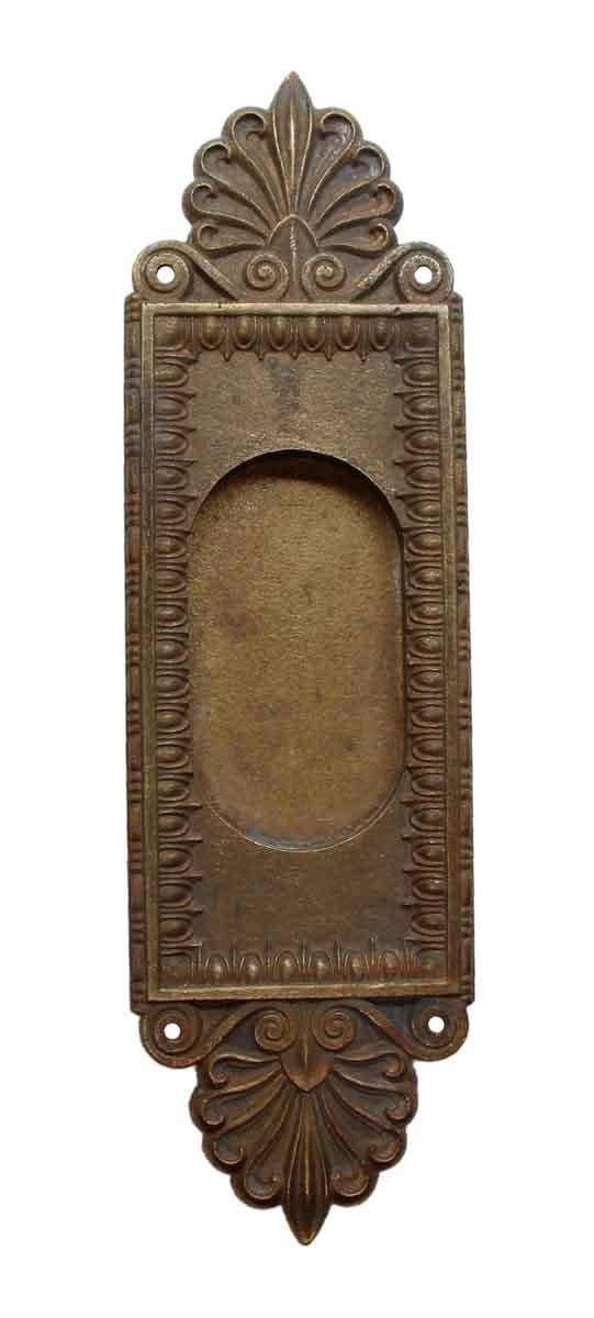 Pocket Door Hardware - Neo Classical Cast Brass Egg & Dart Pocket Door Plate