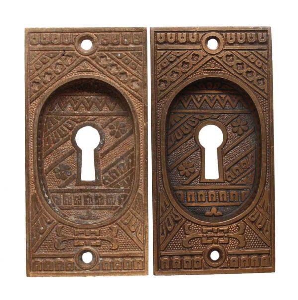 Pocket Door Hardware - Pair of Aesthetic Pocket Door Recessed Pulls