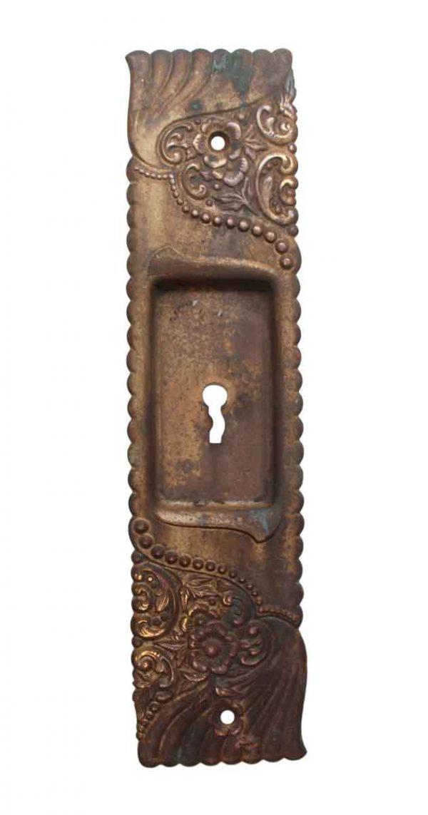 Pocket Door Hardware - Roanoke Brass Keyhole Pocket Door Plate