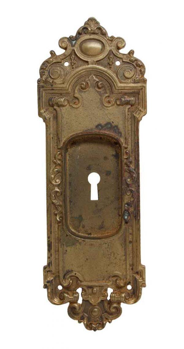 Pocket Door Hardware - Sargent French Cast Brass Pocket Door Plate