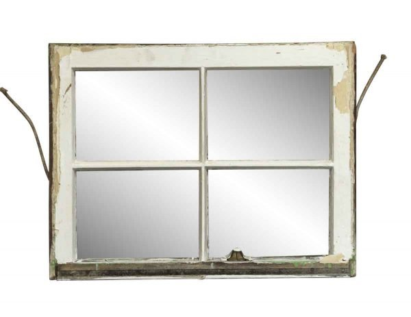 Reclaimed Windows - White Wood Frame Double Windows