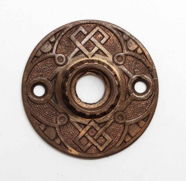 Rosettes - Antique Bronze Ornate 4 Fold Design Rosette
