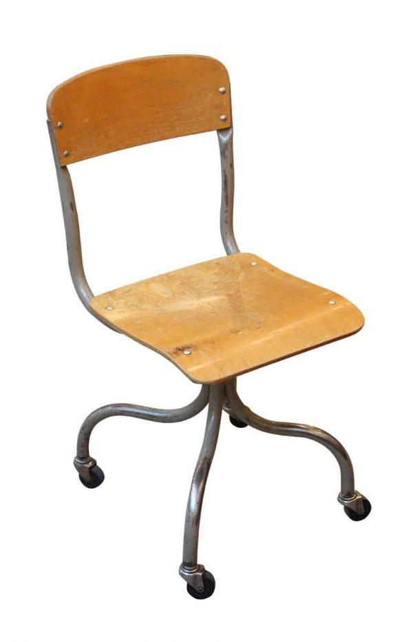 Seating - Wheeled Metal & Wood Chair