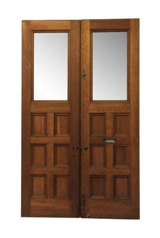 interior glass panel door home office double doors with glass panel antique interior olde good things