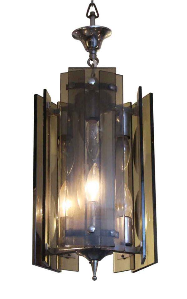 Up Lights - Rectangular Black Glass Pendant Light Fixture