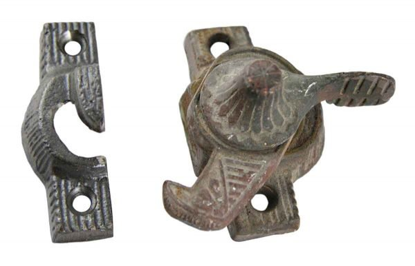 Window Hardware - Antique Iron Window Lock