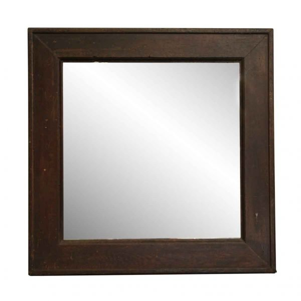 Wood Molding Mirrors - Newly Made Square Salvaged Wood Frame Mirror