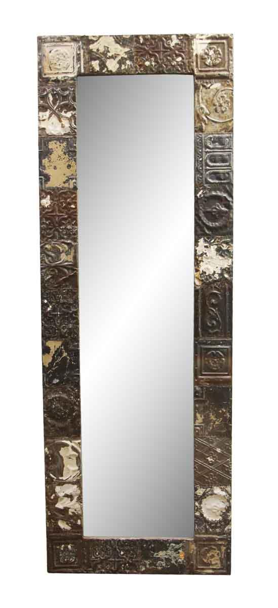 Antique Tin Mirrors - Natural Mixed Pattern Ceiling Tin Mirror