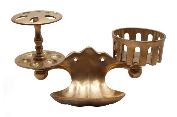 Bathroom - Cast Brass Soap & Toothbrush Dish