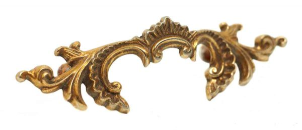 Cabinet & Furniture Pulls - French Brass Victorian Dresser Pull