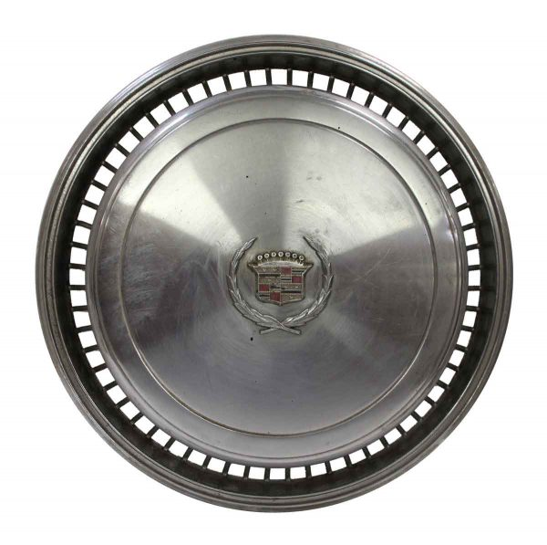 Car Fronts & Parts - Old Silver Cadillac Hubcap