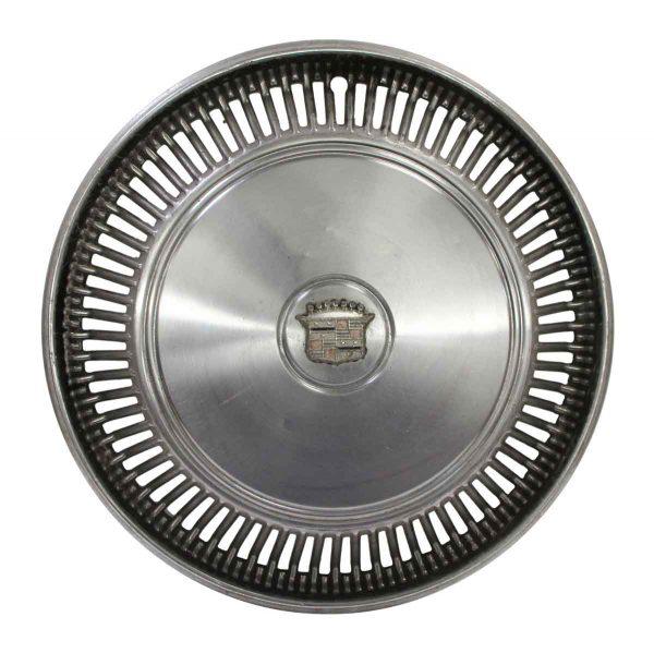 Car Fronts & Parts - Vintage Silver Cadillac Hubcap