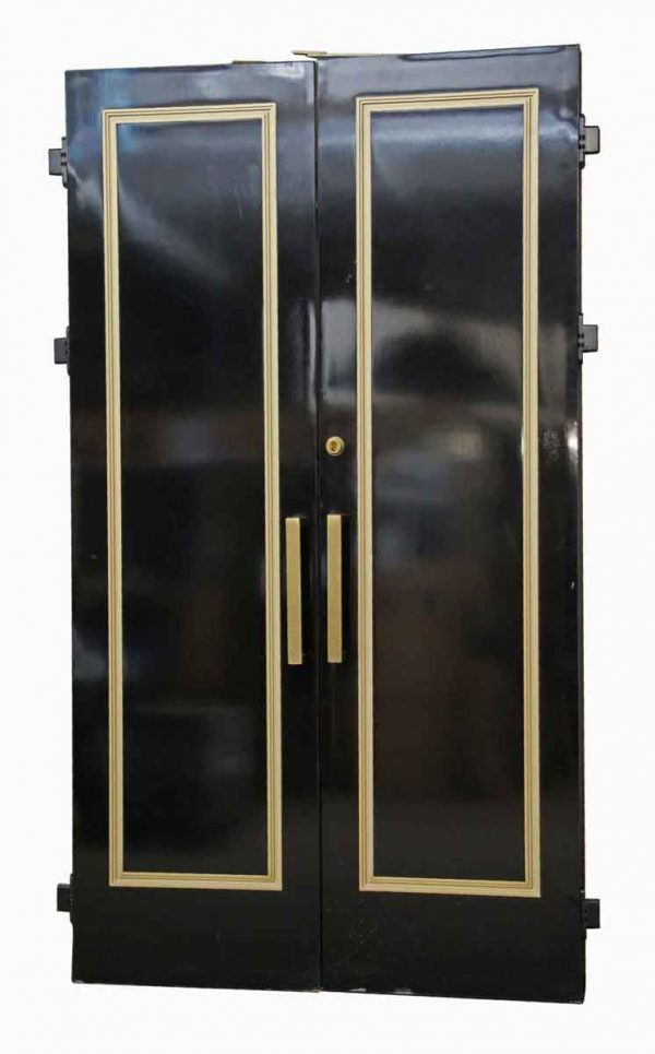 Commercial Doors - Pair of Black Wooden Bathroom Doors from The Waldorf Astoria