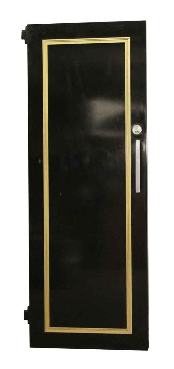 Commercial Doors - Wooden Black Door with Gold Detail