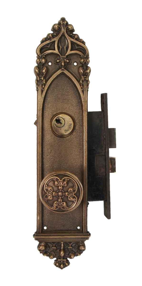 Door Knob Sets - Reading Gothic Bronze Entry Door Knob Set