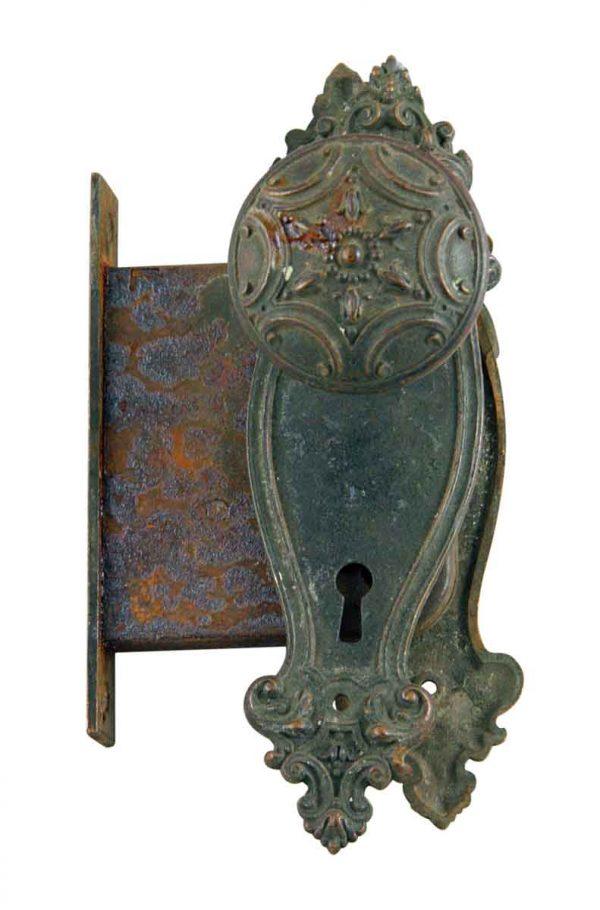 Door Knob Sets - Victorian Penn Norma Bronze Door Knob Set with Mortise Lock