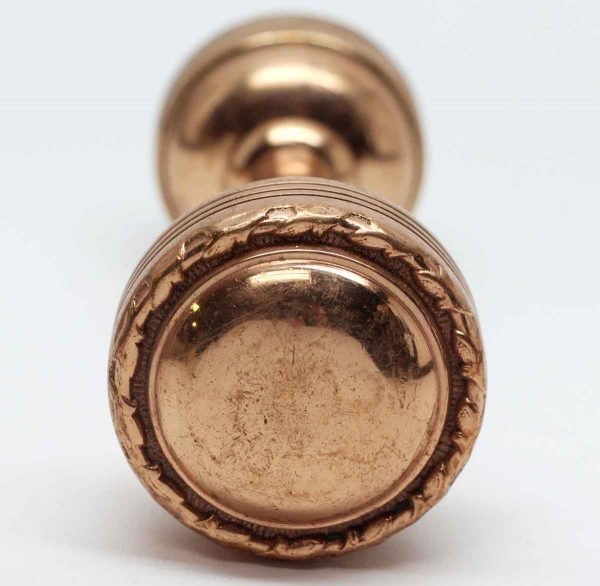 Door Knobs - Polished Brass Pair of Entry Concentric Door Knobs