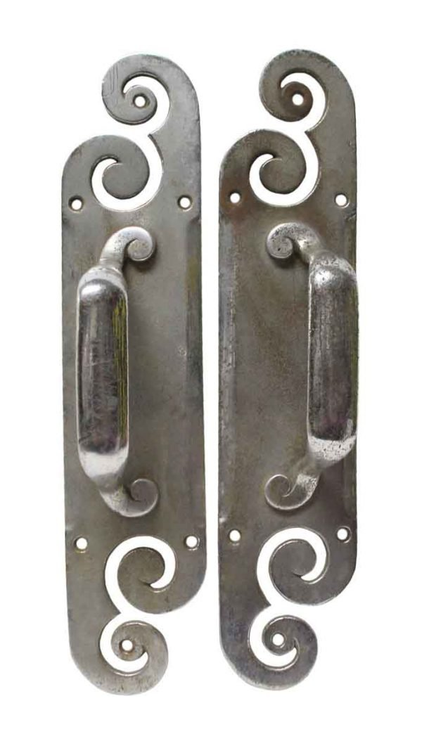 Door Pulls - Chrome Plated Brass Pair of Door Pulls