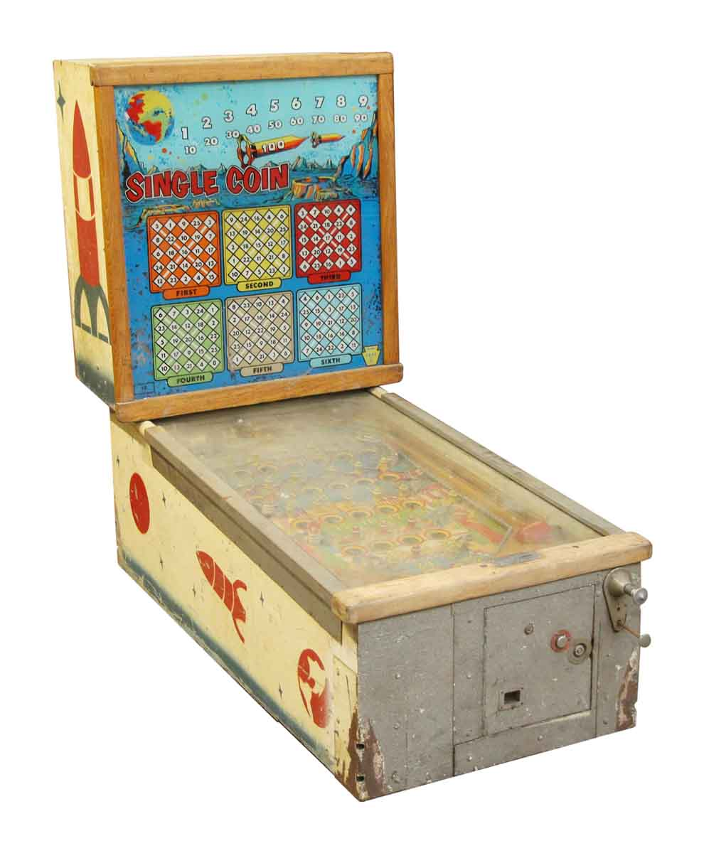 Colorful Vintage Single Coin Arcade Game