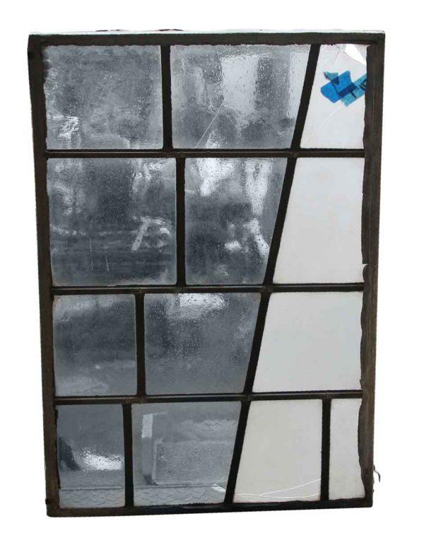 Exclusive Glass - Robert Sowers Modern Art Clear & White JFK Leaded Glass Window