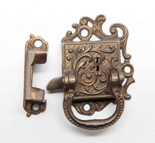 Ice Box Hardware - Bronze Ornate Ice Box Latch