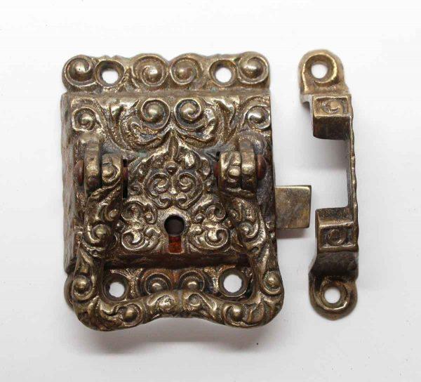 Ice Box Hardware - Ornate Right Hand Brass Ice Box Latch