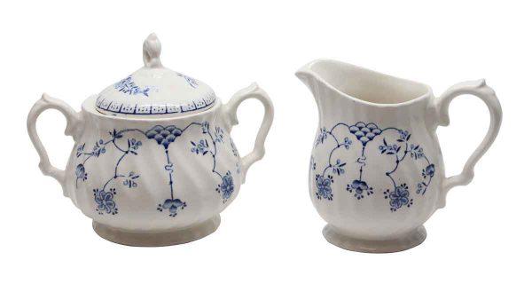 Kitchen - Staffordshire Ware Porcelain Milk & Sugar Set