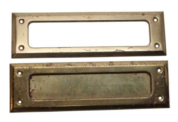 Mail Hardware - Polished Brass Mail Slot Set