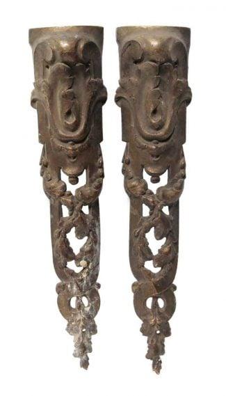 Pair Of Antique Bronze Liques