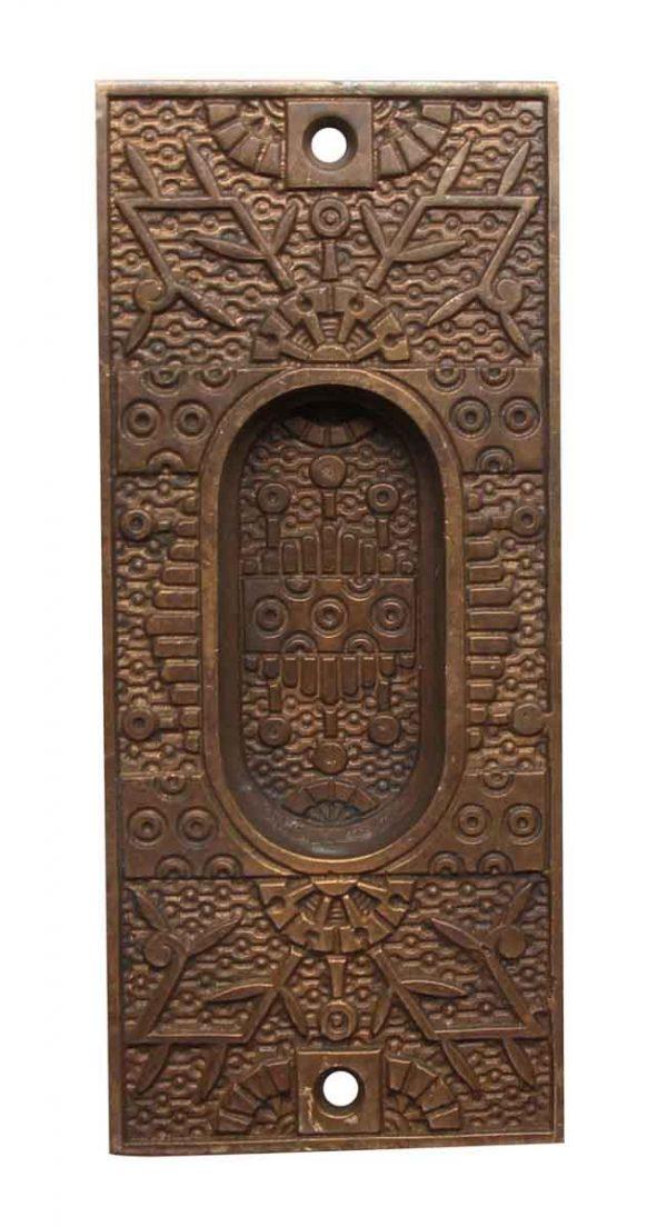Pocket Door Hardware - Antique Bronze Eastlake Pocket Door Pull