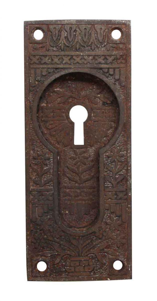 Pocket Door Hardware - Cast Iron Pocket Door Recessed Keyhole Plate