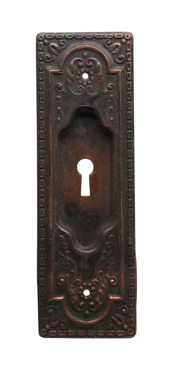 Pocket Door Hardware - Pressed Brass Pocket Door Plate