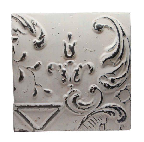 Tin Panels - Antique White Tin Panel with Decorative Design