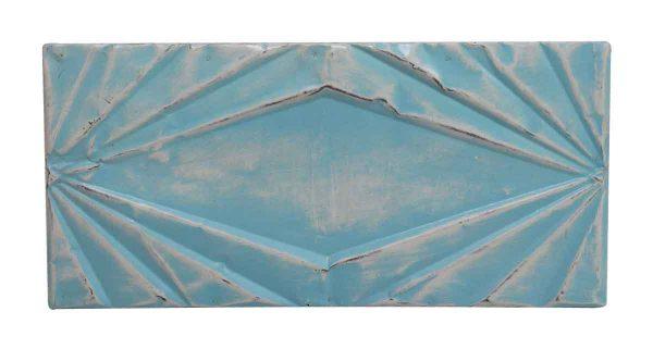 Tin Panels - Art Deco Rectangular Blue Tin Panel
