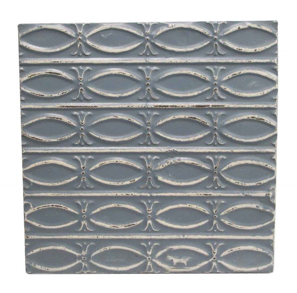 Tin Panels - Blue Fish Pattern Antique Tin Panel