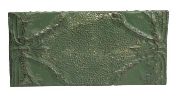 Tin Panels - Green Antique Tin Horizontal Panel