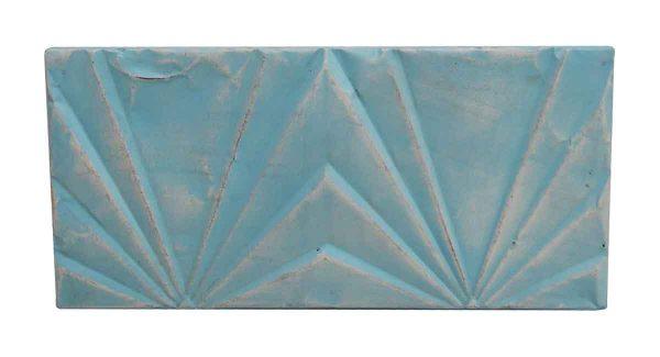 Tin Panels - Sky Blue Deco Tin Antique Rectangular Panel