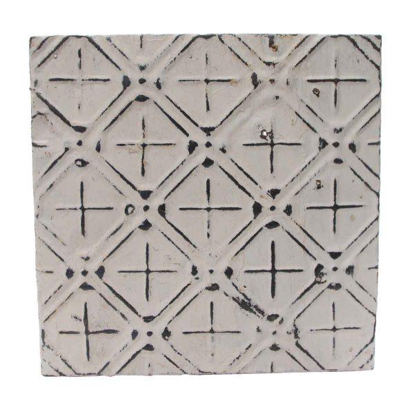 Tin Panels - White & Silver Antique Tin Panel