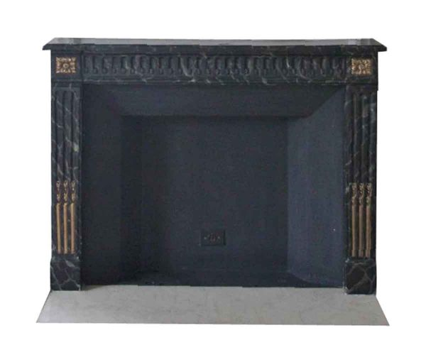 Waldorf Astoria - Waldorf Astoria Carved Wooden Mantel with Faux Black Marble Finish