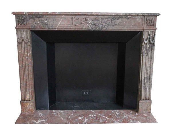 Waldorf Astoria - Waldorf Astoria Louis XVI Regency Brown Carved Marble Mantel