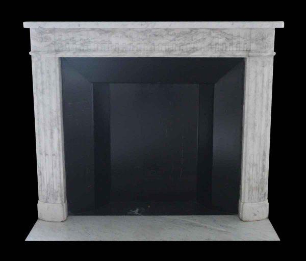 Waldorf Astoria - Waldorf Astoria White Carrara Marble Louis XVI Regency Mantel