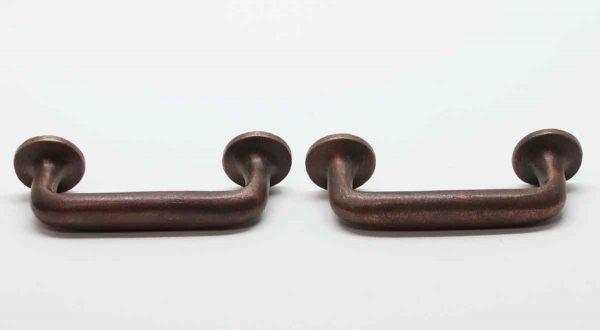 Cabinet & Furniture Pulls - Cast Bronze Pair of Round Back Drawer Pulls