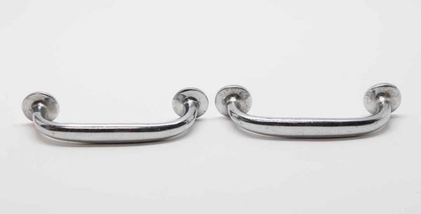 Cabinet & Furniture Pulls - Pair of Chrome Plated Brass Vintage Pulls