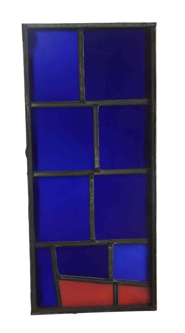 Exclusive Glass - Blue and Red JFK Glass Window