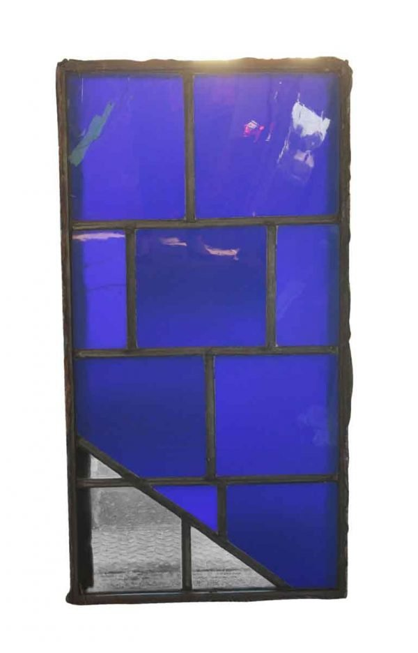 Exclusive Glass - Clear & Blue JFK Glass Window