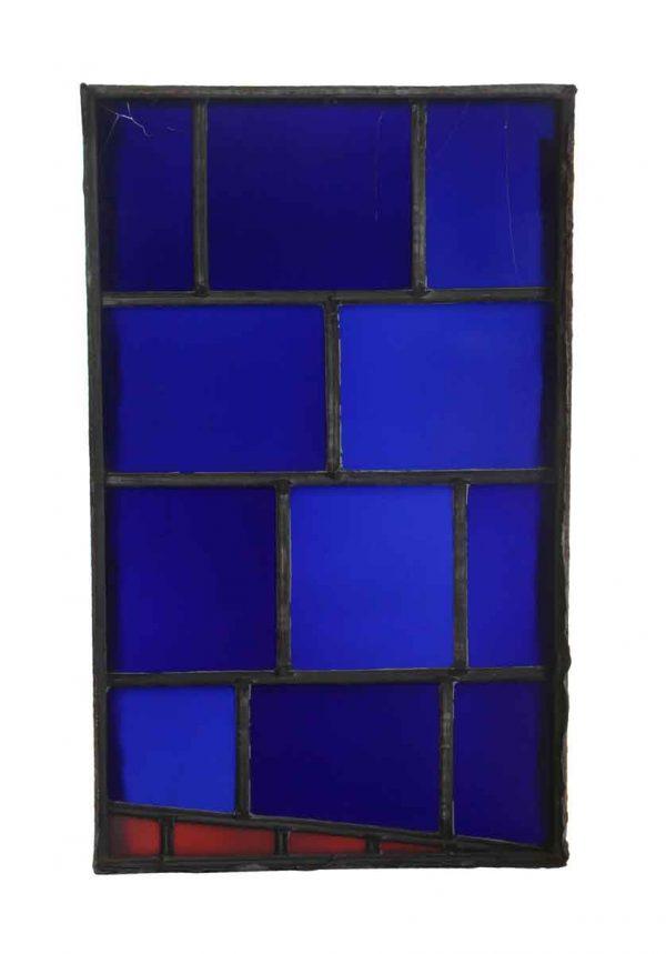 Exclusive Glass - Dark Blue & Red JFK Glass Window